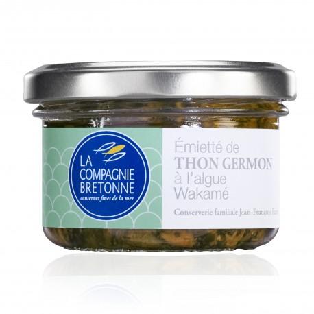 Emietté de thon blanc germon à l'algue wakamé