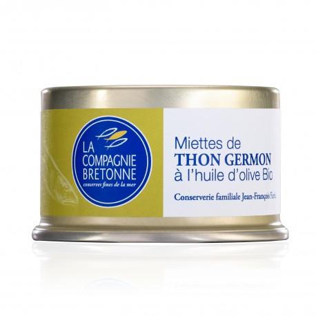 Miettes de thon blanc germon à l'huile d'olive - 135 grammes