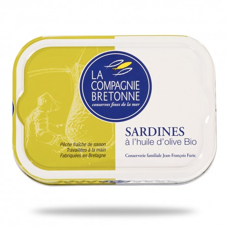 Sardines à l'huile d'olive 115 grammes