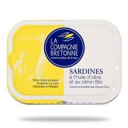 Sardines à l'huile d'olive et au citron 115 grammes