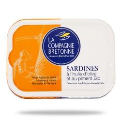 Sardines huile d'olive et piment 115 g