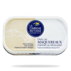 Filets maquereaux marinés muscadet 118 grs