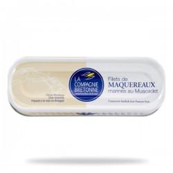 Filets maquereaux marinés muscadet 169 grs