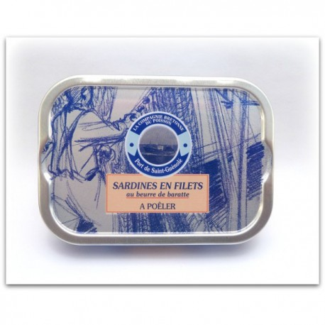 Sardines  à poêler au beurre de baratte 105 grammes